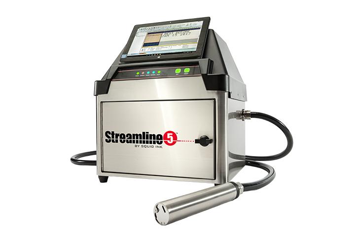 Drukarka CIJ Streamline 5 do znakowania produktów, firmy Squid Ink drukarka małych znaków